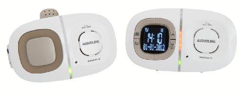 Audioline 901479 Baby Care 12: Babyphone mit digitaler, rauschfreier Funkübertragung