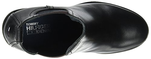 Hilfiger Denim C1385leo 13a, Stivali Chelsea Donna Nero (Black)