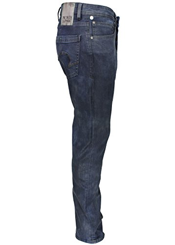 One Green Elephant Damen Straight Fit Jeans Schwarz/Blau