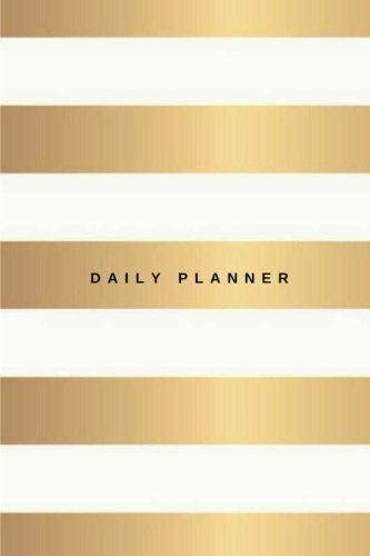 Daily Planner: (6x9) Gold and White Stripes, To Do List, 90 Pages, Smooth Glossy Cover (Kate Spade Planner)