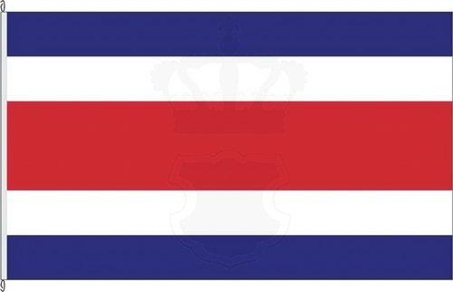 Königsbanner Hochformatflagge Costa Rica - 150 x 400cm - Flagge und Fahne