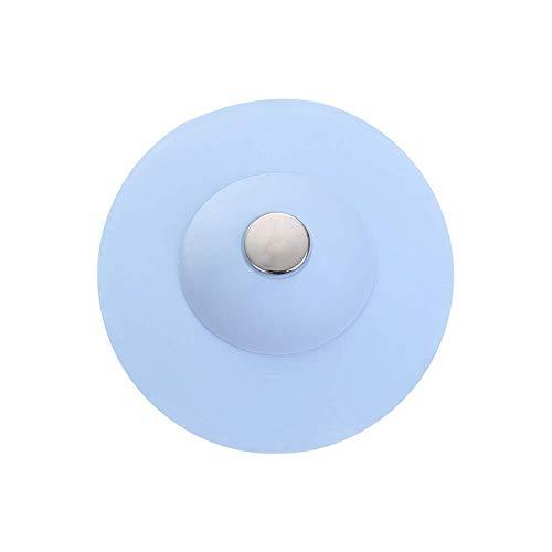 Verstopfung Stoppen (CBCA Silikon Wasser Stecker Küche Waschbecken Stecker Filter Drain Stopper Haar Catcher Sieb, Anti-Clogging Silikon Waschbecken Sieb für Boden, Wäsche, Küche und Bad (3 Stücke) (Hellblau))