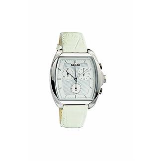 D&G Dolce&Gabbana D&G Martin – Reloj analógico de mujer de cuarzo con correa de piel blanca