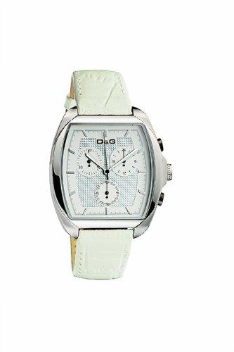 D&G Dolce&Gabbana D&G Martin - Reloj analógico de mujer de cuarzo con correa de piel blanca