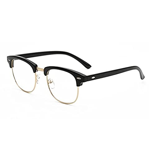 LUFA New Designer Round Men Glasses Retro Fashion Black Women
