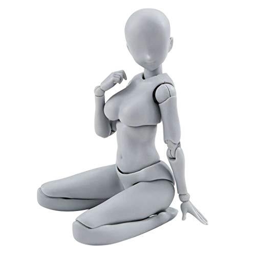 AMhomely 1 Satz Action Figure Modell, männlich/weiblich Action Figure Set Körper PVC-Puppe mit Zubehör-Kit zum Zeichnen, Skizzieren, Malen, Künstler, Jugend Jersey Cartoon (B)