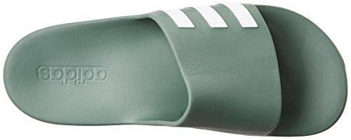 adidas Aqualette Cf, Tongs mixte adulte Verde ( Vertra/Ftwbla/Vertra)
