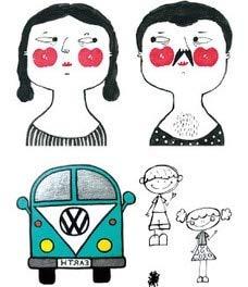 5pcs impermeabile tatuaggio tatoo tatuaggi adorabili rossi belli viso bus gatto tatuaggi tatoo per ragazza bambini bambino
