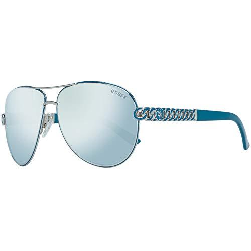 Guess Damen GU7404-5910C Sonnenbrille, Silber (Silver), 59