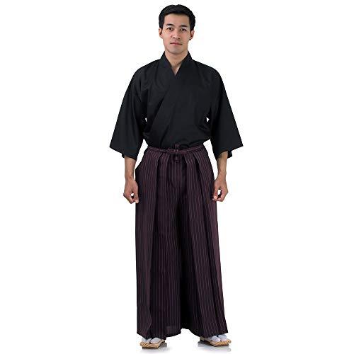Princess of Asia Iaido Outfit Set Kendo Gi Kimono & Hakama Hose (Weinrot & Schwarz)