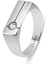 Clara Swarovski The Luis 92.5 Sterling Silver Designer Ring For Men And Boys