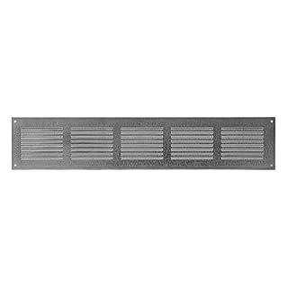 Lüftungsgitter - Abluftgitter - Wetterschutzgitter - mit Insektenschutz - 500x150mm - aus Stahlblech - ZINK , MR5015ZN