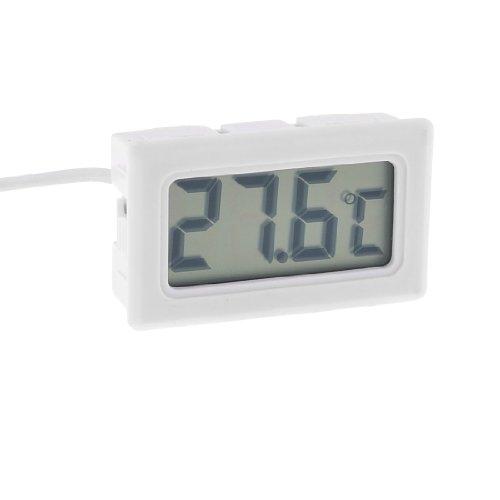 Termperature sonde numérique àécran LCD avec thermomètre-Blanc Câble de 3,3 m