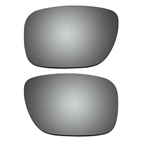 ACOMPATIBLE Polarisierte Ersatzgläser für Oakley Holbrook Sonnenbrille, Herren, Titan, Small