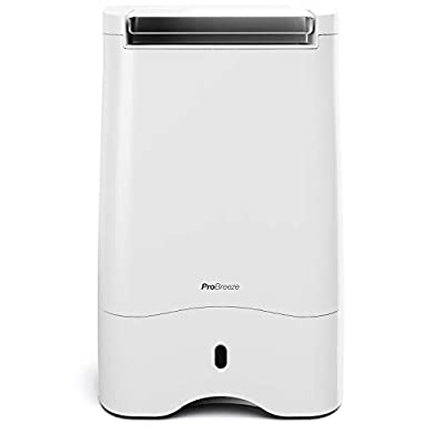 Pro Breeze® 10L Desiccant Dehumidifier with Timer, Air Filter, Continuous Drainage, Digital Control Panel - Ideal for Cold Temperatures in Damp Homes, Basements & Garages