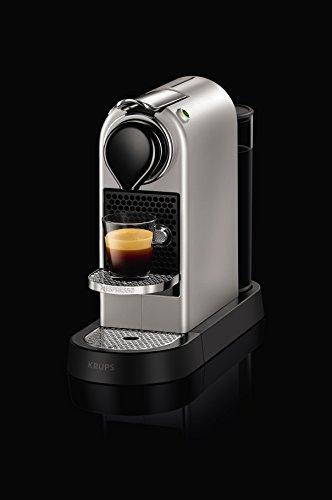 Nespresso by KRUPS XN760B40 Nespresso Citiz and Milk Coffee Machine, 1710 W – Silver + Nespresso Capsule Holder