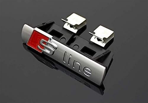 Sline Sport Emblem für Kühler. Silberfarbene S-Line-Plakette.