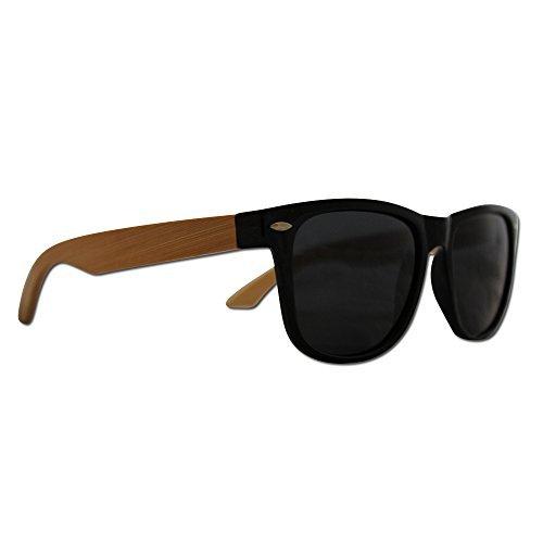 Wayfarer Sonnenbrille Polarisiert in Holz Optik - Hochwertige polarisierte Gläser mit UV Schutz - Jeder Kauf bei Eye Love löst eine wohltätige Spende aus