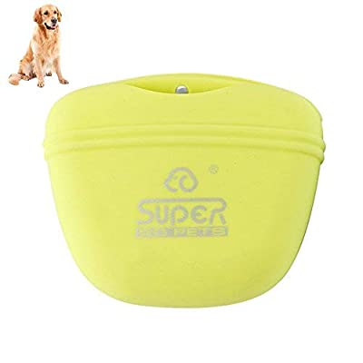 Petacc Pet Training Bag Silicone Dog Training Pouch Waterproof Pet Treat Pouch Portable Dog Treat Training Pouch with Clip and Magnetic Closing