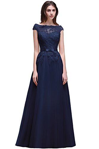 Langes kleid royalblau