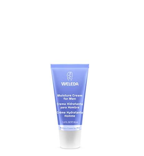 WELEDA Feuchtigkeitscreme für den Mann, Naturkosmetik Pflegecreme für trockene und empfindliche Haut im Gesicht, zieht schnell ein und fettet nicht (1 x 30 ml) - Herren Bio-gesicht