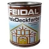 Feidal Holzdeckfarbe v. Fachhandel Farbton schokobraun, seidenglänzend / Industrie Dauerschutzfarbe / Wetterschutzfarbe / 2,5 L