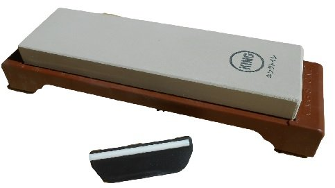 King Japanische 6000 Schleifstein Körnung S-45/HT - 43 und Naniwa QX - 0010 Guide Blattwinkel: Bündel mit 2 Artikeln (King Schleifsteine)