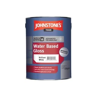 Johnstone's Trade Aqua Water Based Gloss Black 1L specially tinted colour by avenue coatings