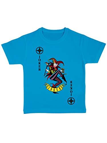 clothinx Kinder T-Shirt Bio Karneval & Fasching Spielkarte Joker Kostüm Atoll/Bunt Größe (Kostüm Für Teenager Mädchen Gruppen)