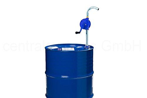 Fasspumpe mit Kurbel - ÖL Diesel Wasser Fass Handpumpe - Tonnen Kurbel Pumpe