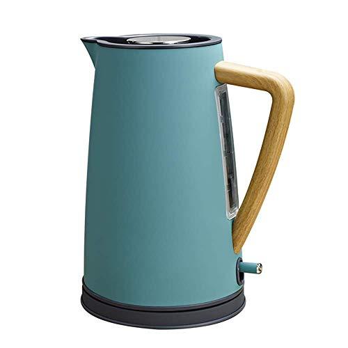 Screenes Wasserkocher Legacy Holz Griff 1 7 L Bereifter Gummi Antikalk Einfacher Stil Filter Wasser Erhitzer Automatisches Ausschalten Gelbes Blaues Graues Rosa (Color : See Blau, Size : Size)
