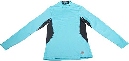 Nike Mens Hyperwarm Mock Turtle Neck Long Sleeve Athletic Shirt Turquiose Nike Mock Neck