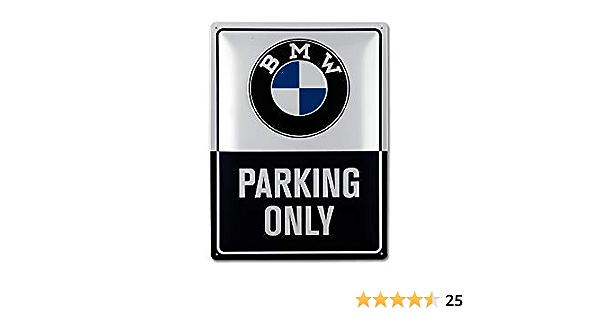 Bmw Original Logo Parking Only Classic Blechschild Schild 30 X 40 Cm Auto