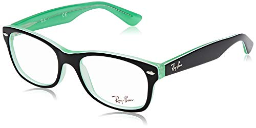 Ray-Ban Unisex-Erwachsene 0RY1528 Brillengestelle, Schwarz (Green Trasp On Top Black), 48
