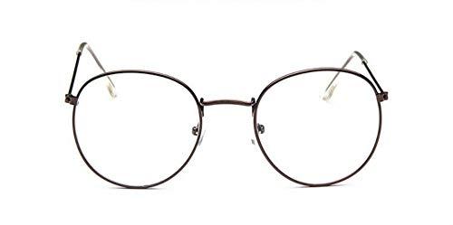 Sonnenbrille Runde Gläser Frame Frau Männer Gläser Kaffee Retro Optical Frames Metall Klare Linse Schwarz Silber Gold Brillen