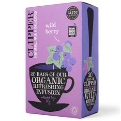 Clipper Organic Wild Berry Tea 20 Tea Bags 60g - CLIP-4664 by Clipper