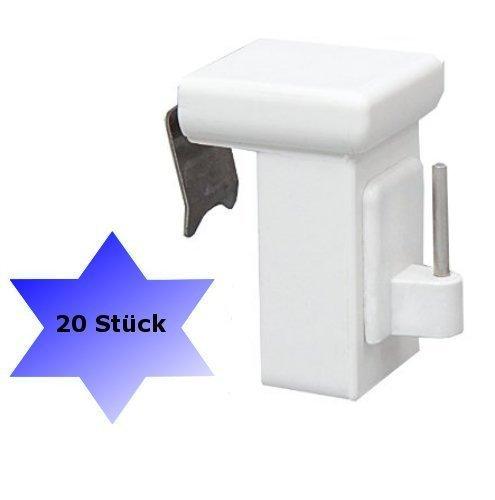 Dekondo - 20 ganci per finestra, adatti per decorazioni, di colore bianco; spessore della finestra:10-27mm; universale