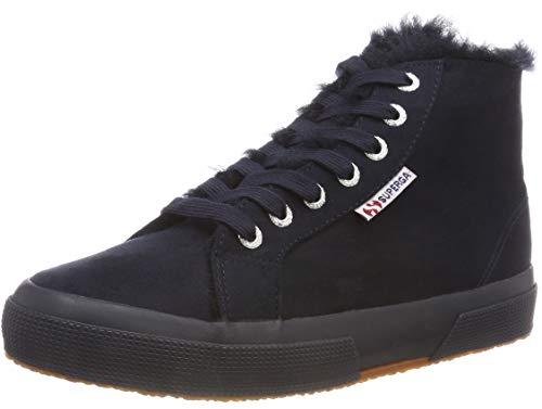 Superga 2795 señora sneakers High-Top zapatillas de deporte s00dgp0-905 azul Nuevo