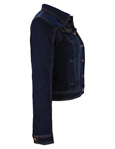 Fraternel Damen Jacke Jeansjacke Denim Jacket talliert Stretch Dunkelblau S / 36 - 2