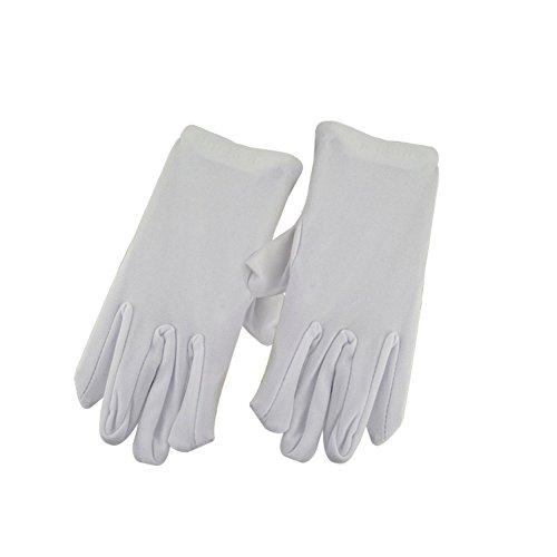 Cdet Voller Finger Handschuhe Dünnschliff Kind Show Dekorative Handschuhe (3 Jahre alt -10 Jahre alt) (Weiss)
