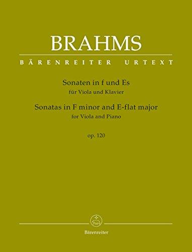 Sonaten in f-Moll und Es-Dur für Viola und Klavier op. 120. Spielpartitur mit Einzelstimme, Urtextausgabe