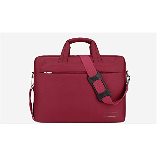 Dudobi Mensajero del Bolso de Hombro del Ordenador maletín de Negocios de 17 Pulgadas Vacaciones de Golf roja para Trabajar con múltiples Bolsillos contenían Espacio de planificación Racional