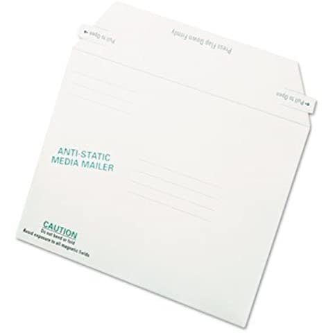 Antistatic Fiberboard Disk Mailer, 6 x 8 5/8, White, Recycled, 25/Box, Sold as 1 Box by Quality Park