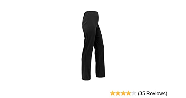 fbfab6fa Ladies Stretch Bootleg Trousers Ribbed Womens Bootcut Elasticated Waist  Pants Work Wear Pull On Bottoms Plus Big Sizes 8-26 Colour Black, Grey,  Navy Brown