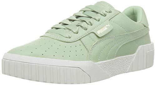 PUMA Damen Cali Emboss WN's' Sneaker, Grün Smoke Green, 41 - Grün Tennisschuhe