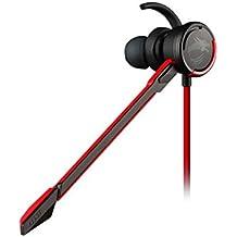 MSI Immerse GH10 Binaurale Dentro de oído Negro, Rojo auricular con micrófono - Auriculares con micrófono (PC/Juegos, Binaurale, Dentro de oído, Negro, Rojo, Control en línea, Alámbrico)