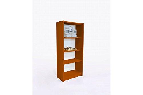 ABC MEUBLES Bücherregal Regal Holz - ETABIB - Schokolade (Schokolade Bücherregal)