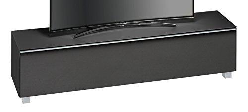 MAJA Möbel SOUNDCONCEPT Glass 7738 Soundboard Schwarzglas matt - Akustikstoff schwarz, Abmessungen (BxHxT):180,20 x 43,30 x 42 cm, Glas, 20 x 42 x 43,30 cm