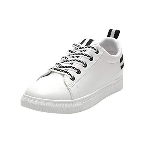 Baskets FantaisieZ Chaussures de Sport à Bretelles Croisées pour Femmes Chaussures Décontractées de Mode Femmes à Bout Rond Talon Plat Sneakers de Course