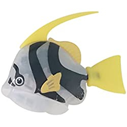 TOYMYTOY Lifelike Realista Plástico Artificial Movimiento flotante Fishes Ornamento Decoraciones para Acuario Fish Tank (White)